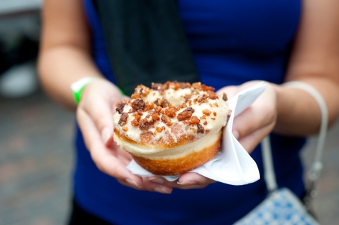 Maple Bacon Donut from Po'Nuts (aka Beast Restaurant) at Food Truck Eats II
