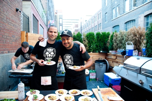 Andrew Richmond of La Carnita with Steve Gonzales