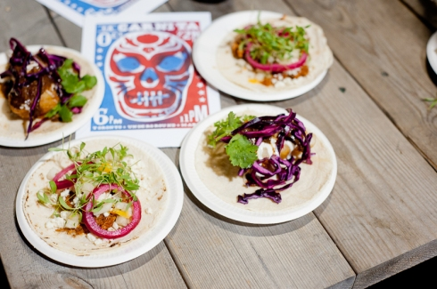 Tacos and art from La Carnita at Toronto Underground Market