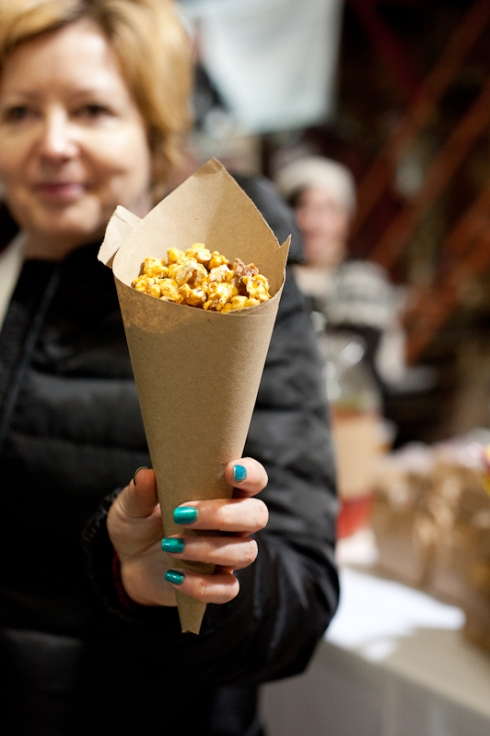 Bacon caramel popcorn from the Picnic Society at Toronto Underground Market