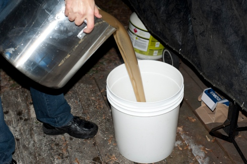 Aerating the wort
