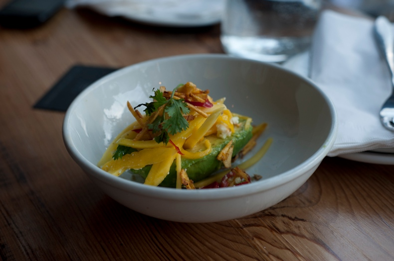 Avocado mango salad, La Carnita
