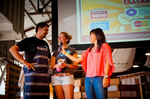 El Gastronomo Vagabundo winning an award at AwesTRUCK 2012