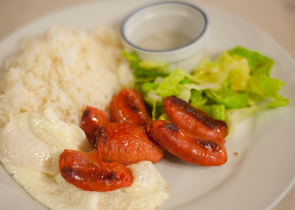 Filipino breakfast special with Filipino sausage, Ritz restaurant, Toronto