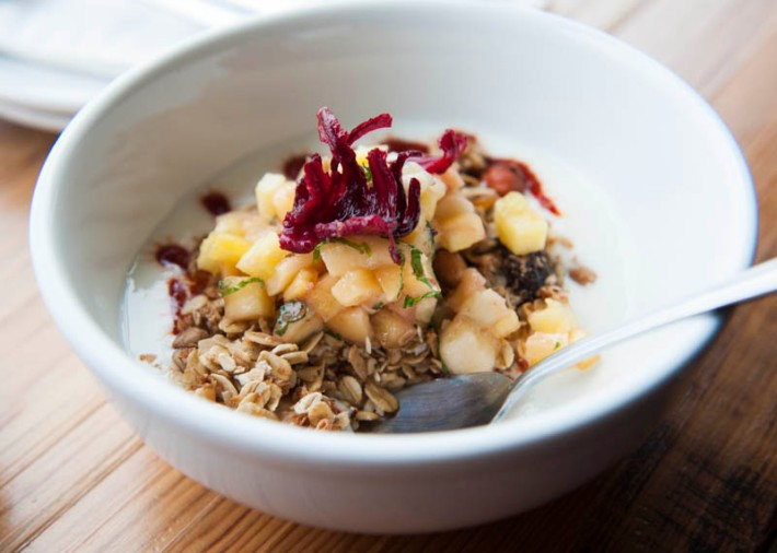 Guillijo granola and yogurt, La Carnita brunch